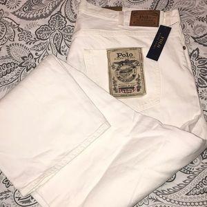 Brand New Polo Ralph Lauren White Jeans 46x34
